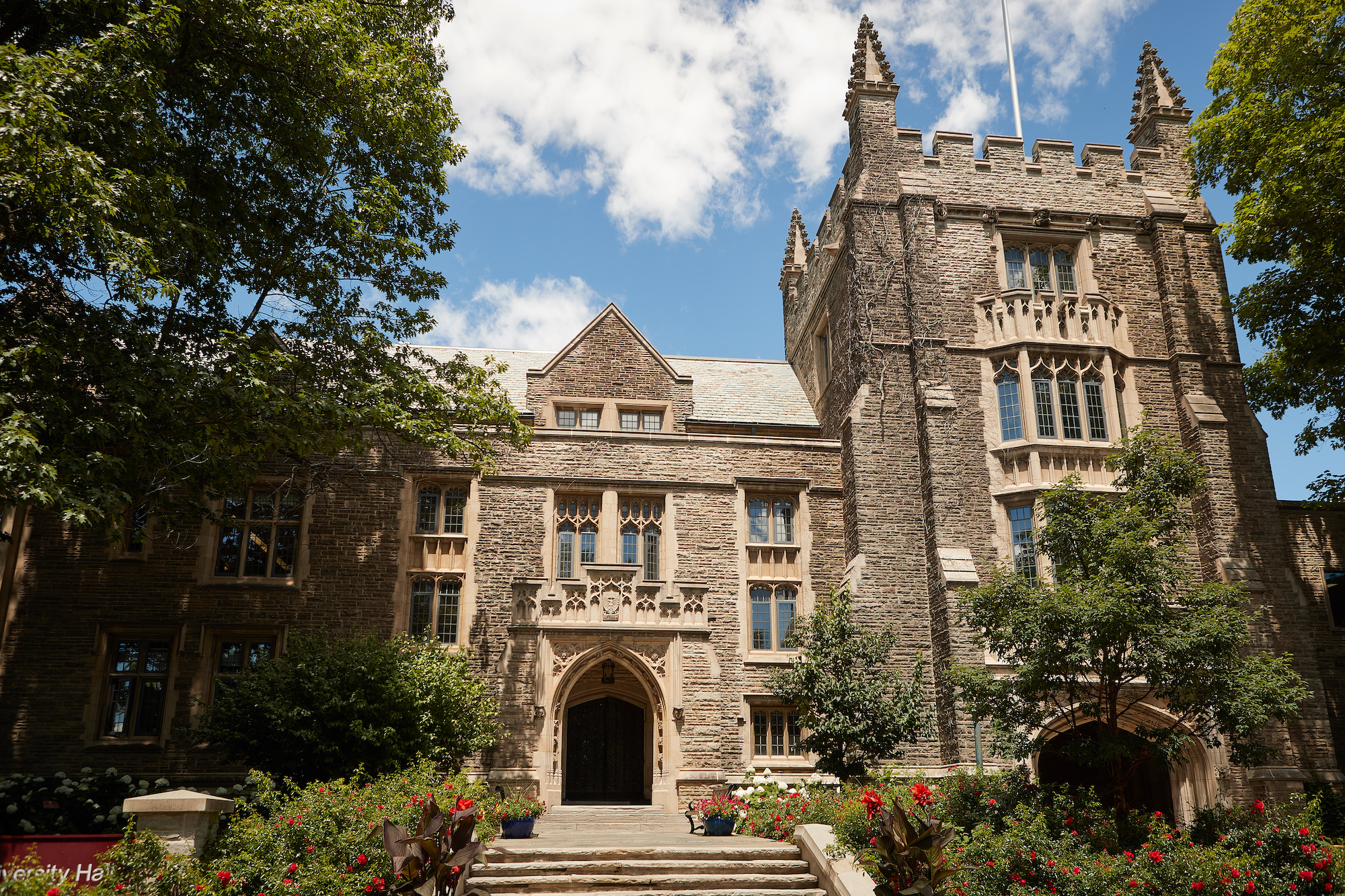 image of the exterior of university hall