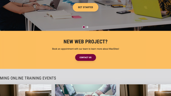 Example of new large size CTA banner with gold background.